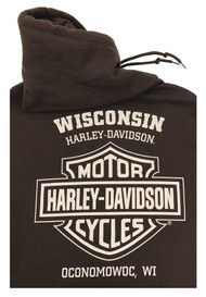 Harley-Davidson® Men's Distressed Dark Force Pullover Sweatshirt, Dark Chocolate