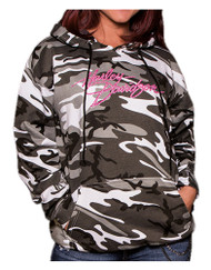 Harley-Davidson® Women's Embellished Incognito Pullover Hoodie, Urban Camo