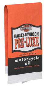 Harley-Davidson® Pre-Luxe Bar Towel, 22 x 32 inches, Orange & Black HDL-18571 - Wisconsin Harley-Davidson