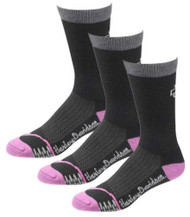 Harley-Davidson® Womens CoolMax Mid Calf Rider Socks Pink D89067570-650, 3 Pairs - Wisconsin Harley-Davidson