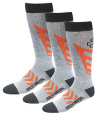 Harley-Davidson® Men's CoolMax Performance Rider Socks (Gray, Large), 3 Pairs - Wisconsin Harley-Davidson