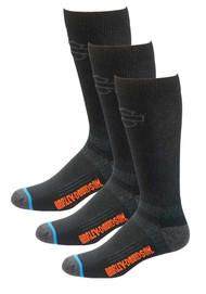 Harley-Davidson® Men's Comfort Cruiser Wicking Riding Socks D99203170, 3 Pairs - Wisconsin Harley-Davidson