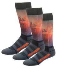 Harley-Davidson® Men's Cushion Vented Performance Flame Riding Socks, 3 Pairs - Wisconsin Harley-Davidson