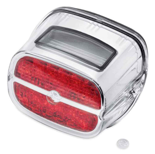 Harley-Davidson® Bar & Shield LED Tail Lamp - Red Lens & Chrome Bezel 68085-08 - Wisconsin Harley-Davidson