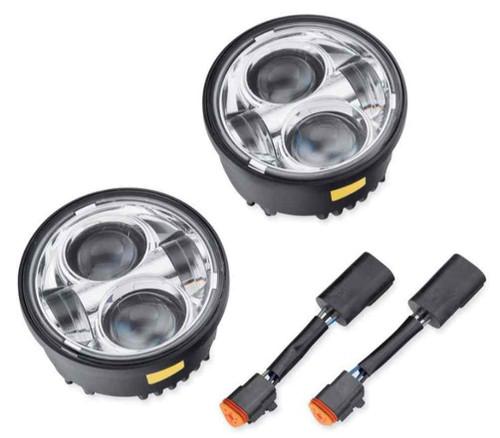 Harley-Davidson® Daymaker Projector LED Lamps, Fits FXDF Models, Chrome 67700260 - Wisconsin Harley-Davidson