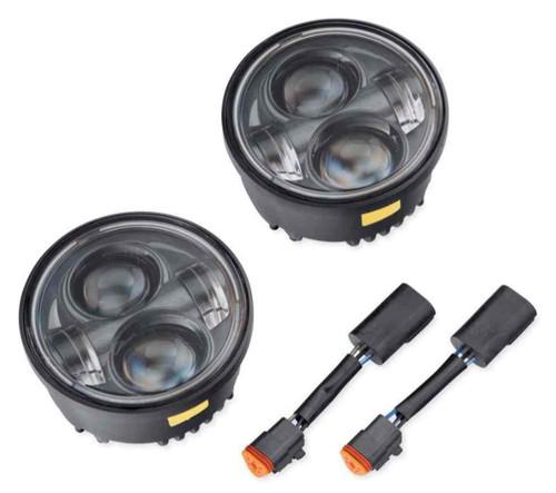 Harley-Davidson® Daymaker Projector LED Lamps, Fits FXDF Models, Black 67700261 - Wisconsin Harley-Davidson