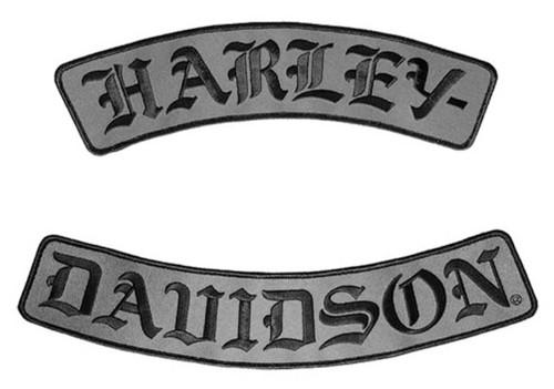 Harley-Davidson® Embroidered H-D Script Emblem, 3X Size, 12 x 3.25 inch EM022757 - Wisconsin Harley-Davidson