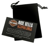 Harley-Davidson® Sculpted Rose Gold B&S Hammered Ride Bell, Chrome Finish HRB081 - Wisconsin Harley-Davidson