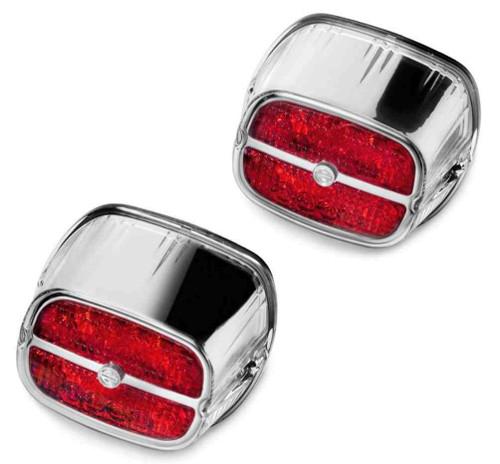 Harley-Davidson® Bar & Shield LED Tail Lamp - Red Lens & Chrome Bezel 67800133 - Wisconsin Harley-Davidson