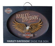 Harley-Davidson® Sculpted Eagle Oval 3D Pub Sign, 22 x 16 inches HDL-15317 - Wisconsin Harley-Davidson
