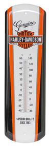 Harley-Davidson® Nostalgic Bar & Shield Tin Thermometer, 5 x 17 inch HDL-10089 - Wisconsin Harley-Davidson