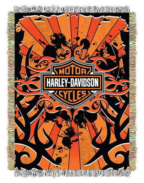HarleyDavidson Inkburst Woven Tapestry Throw Blanket 40 X 40 Awesome Harley Davidson Blankets And Throws