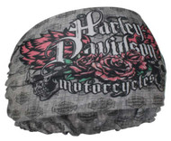Harley-Davidson® Women's H-D Wings Rebel Headband Scrunchie, Gray HE22554 - Wisconsin Harley-Davidson
