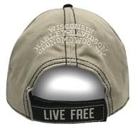 Harley-Davidson® Men's Embroidered Genuine Oval Washed Baseball Cap BCC21612 - Wisconsin Harley-Davidson