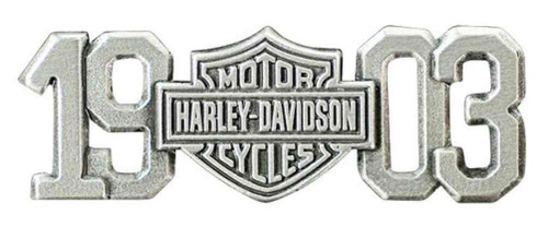Harley-Davidson® 1903 Bar & Shield Pin, Antiqued & Polished Silver Finish P238063 - Wisconsin Harley-Davidson