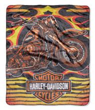 Harley-Davidson® 3D Micro Raschel Waffle Throw Blanket, 50 x 60 inch NW940987 - Wisconsin Harley-Davidson