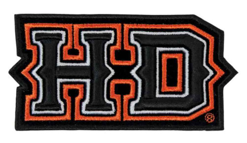 Harley-Davidson® 3D Embroidery Spiked H-D Emblem Patch, Medium EM241643 - Wisconsin Harley-Davidson
