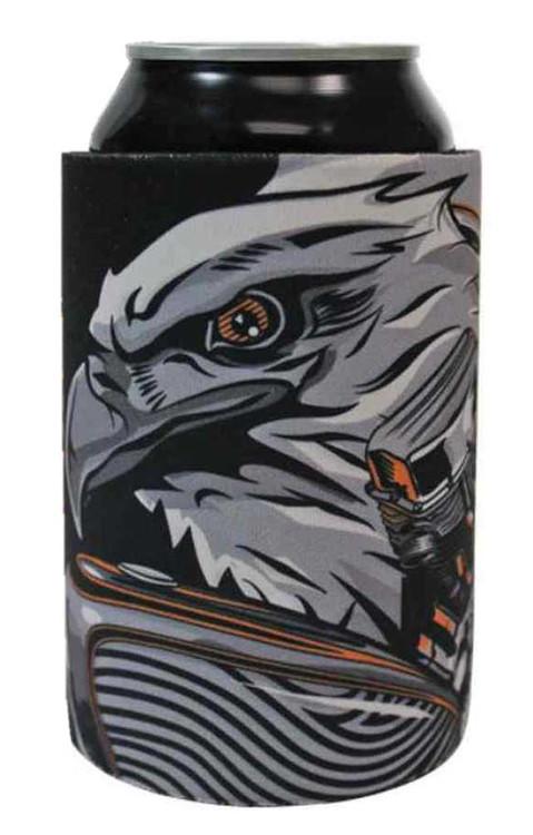 Harley-Davidson® Bar & Shield Eagle Engine Neoprene Can Wrap, Black CW20266 - Wisconsin Harley-Davidson
