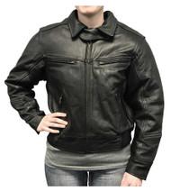 Redline Women's Bomber Naked Cowhide Leather Motorcycle Jacket, Black L-30 - Wisconsin Harley-Davidson
