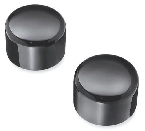Harley-Davidson® Front Axle Nut Covers, VRSC Models, Gloss Black 43428-09 - Wisconsin Harley-Davidson