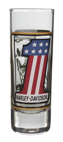 Harley-Davidson® Double Sided Vintage RWB #1 Tall Shot Glass, 2.5 oz. SG22799 - Wisconsin Harley-Davidson