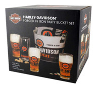 Harley-Davidson® Forged In Iron Party Bucket Set, 5 qt. Metal Bucket HDL-18776 - Wisconsin Harley-Davidson