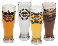 Harley-Davidson® Bar & Shield Acrylic Pilsner Glasses Set, 22 oz. HDL-18775 - Wisconsin Harley-Davidson