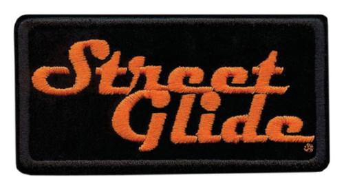 Harley-Davidson® Embroidered Street Glide Emblem Patch, Small 4 x 2 in. EM647062 - Wisconsin Harley-Davidson