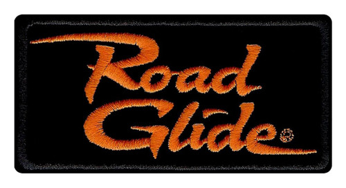 Harley-Davidson® Embroidered Road Glide Emblem Patch, Small 4 x 2 in. EM1056642 - Wisconsin Harley-Davidson