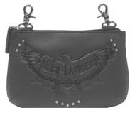 Harley-Davidson® Womens Eagle Embossed Hip Bag w/ Detachable Strap ZWL2941-BLACK - Wisconsin Harley-Davidson