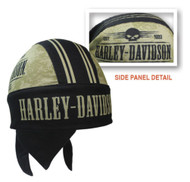 Harley-Davidson® Men's Grunge Skull H-D Head Wrap, Black & Khaki HW22212 - Wisconsin Harley-Davidson