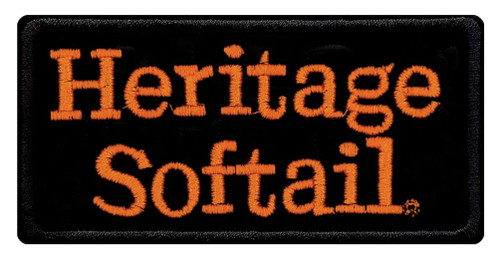 Harley-Davidson® Embroidered Heritage Softail Emblem Patch, SM 4 x 2 in EMB048643 - Wisconsin Harley-Davidson