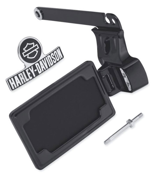 Harley Davidson 174 Side Mount License Plate Kit Black