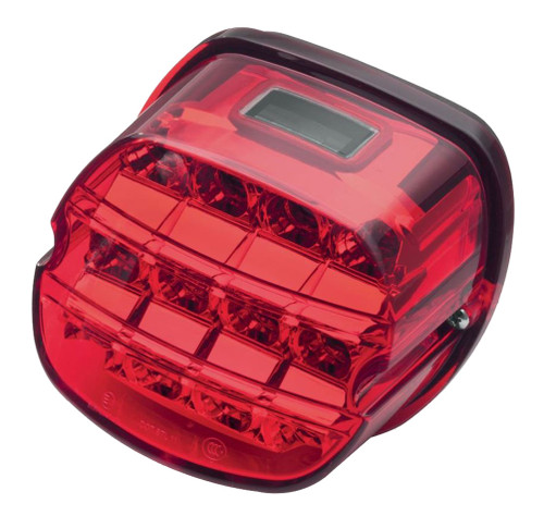 Harley Davidson® Layback LED Tail Lamp, Red Lens, Fits XL Models 67800355    Wisconsin Harley Davidson
