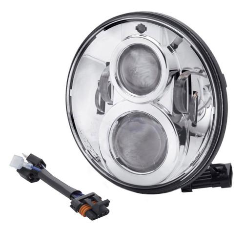 Harley-Davidson® 7 in Daymaker Projector LED Headlamp - Chrome Finish 67700265 - Wisconsin Harley-Davidson