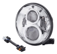 Harley-Davidson® 7 in Daymaker Projector LED Headlamp - Chrome Finish 67700265 - Wisconsin Harley-Davidson