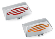 Harley-Davidson® Bar & Shield Logo Fender Tip Lens Kit - Chrome Finish 59081-96 - Wisconsin Harley-Davidson