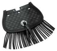 Harley-Davidson® Heritage Springer Black Leather Mud Flap w/ Fringe 59027-99 - Wisconsin Harley-Davidson