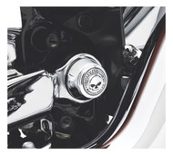 Harley-Davidson® Willie G Skull Swingarm Pivot Bolt Cover Kit - Chrome 42072-07 - Wisconsin Harley-Davidson