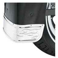 Harley-Davidson® Flames Fender Skirt - Chrome, Fits Softail Models 60179-06 - Wisconsin Harley-Davidson