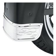 Harley-Davidson® Flames Fender Skirt - Chrome, Fits Softail Models 60179-06 - Wisconsin Harley-Davidson