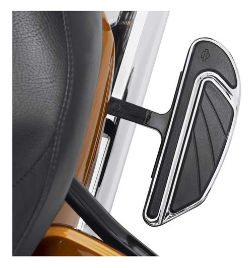 Harley-Davidson® Airflow Passenger Footboard Kit - Chrome & Black Finish 50500437 - Wisconsin Harley-Davidson