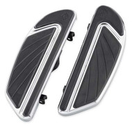 Harley-Davidson® Airflow Rider Footboard Kit - Chrome, Softail Models 50500436 - Wisconsin Harley-Davidson