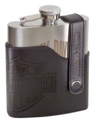 Harley-Davidson® Bar & Shield Laser Engraved Flask, Stainless Steel HDL-18572 - Wisconsin Harley-Davidson