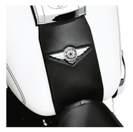 Harley-Davidson® Leather Tank Panel w/ Fat Boy Concho Logo, Black 91134-01 - Wisconsin Harley-Davidson