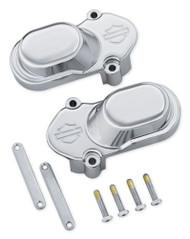 Harley-Davidson® Bar & Shield Rear Axle Cover Kit, Chrome Finish 46399-05A - Wisconsin Harley-Davidson