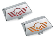 Harley-Davidson® Fender Tip Lens Kit w/ Skull Logo -Chrome-Plated Finish 59651-01 - Wisconsin Harley-Davidson