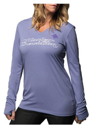 Harley-Davidson® Women's Performance All Polished Shirt, Purple 5J0J-HE3L - Wisconsin Harley-Davidson