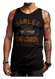 Harley-Davidson® Men's Chrome Charger Sleeveless Muscle Shirt, Black 5500-HC74 - Wisconsin Harley-Davidson