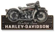 Harley-Davidson® Wooden Vintage Iron Motorcycle Silhouette Sign, Black CU-VI-HARL - Wisconsin Harley-Davidson